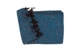 Grote Shawl Waterblauw