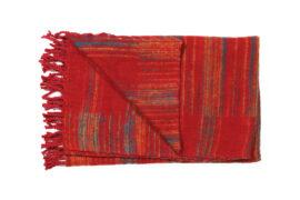 Plaid rood gestreept