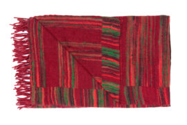 Plaid rood met roze strepen