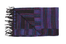 Plaid zwart met roze en paarse strepen