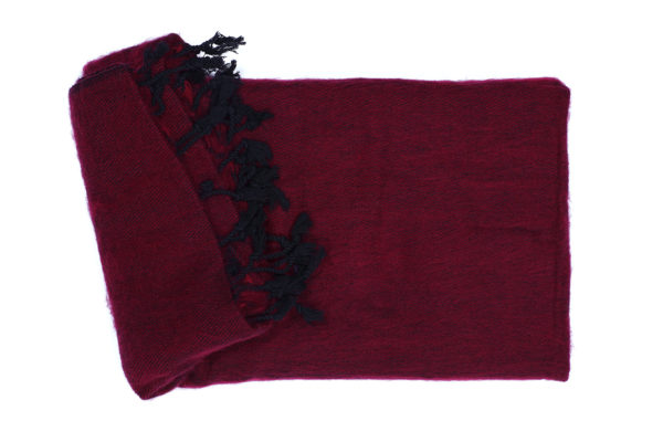 Grote Shawl Bordeaux-rood