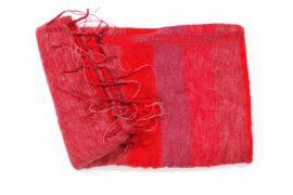 Shawl rood paars gestreept