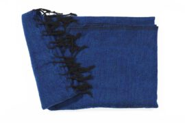 Grote Shawl Kobaltblauw